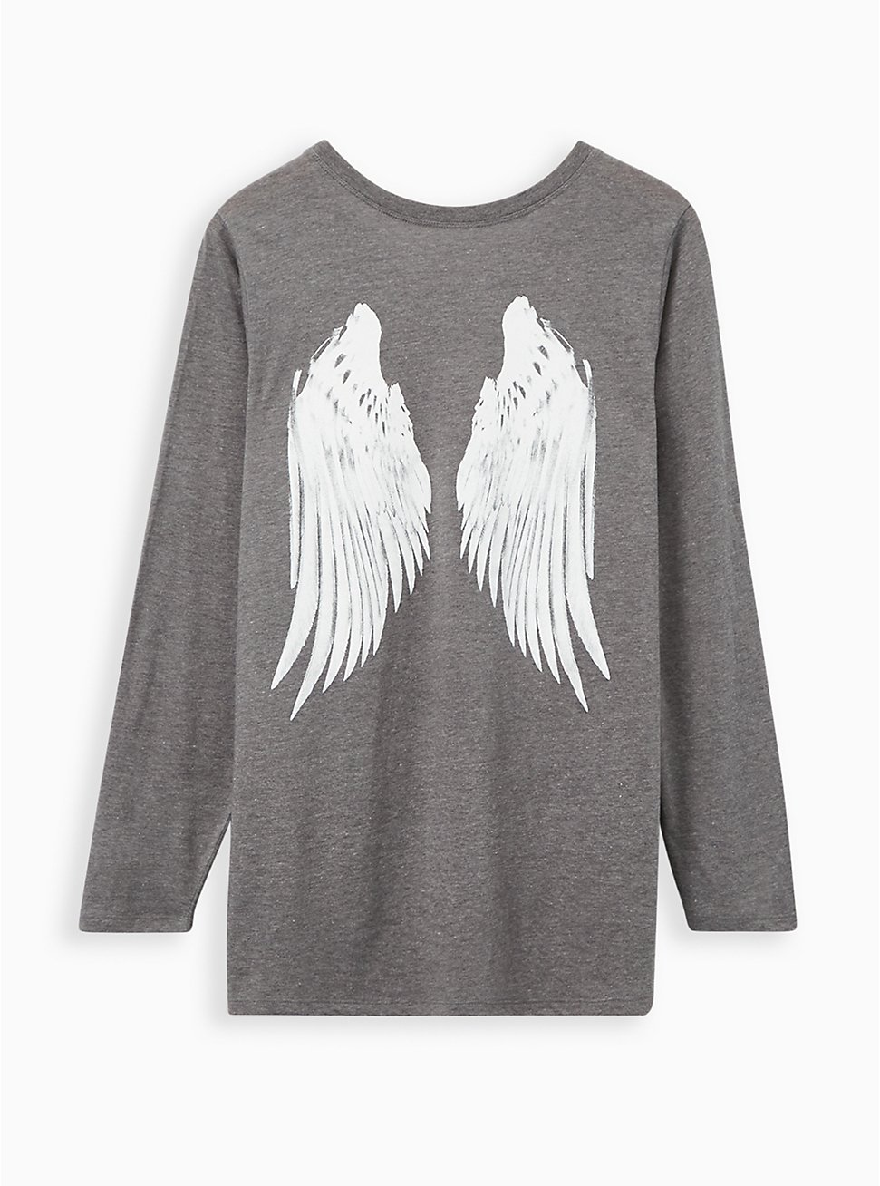Heather Grey Wings Long Sleeve Tee, MEDIUM HEATHER GREY, hi-res