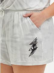 Plus Size Super Soft White Tie-Dye Bolt Sleep Short, MULTI, alternate