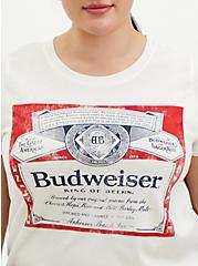 Plus Size Classic Fit Crew Tee - Budweiser White  , BRIGHT WHITE, alternate