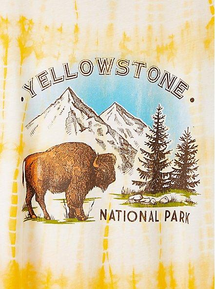 Classic Crew Tee - Yellowstone Yellow Tie-Dye, GOLDEN YELLOW, alternate