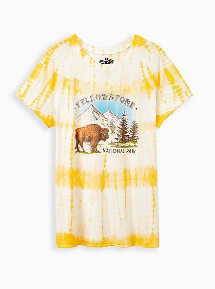 Classic Crew Tee - Yellowstone Yellow Tie-Dye, GOLDEN YELLOW, hi-res