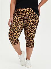 Pedal Pusher Premium Legging - Leopard, , alternate