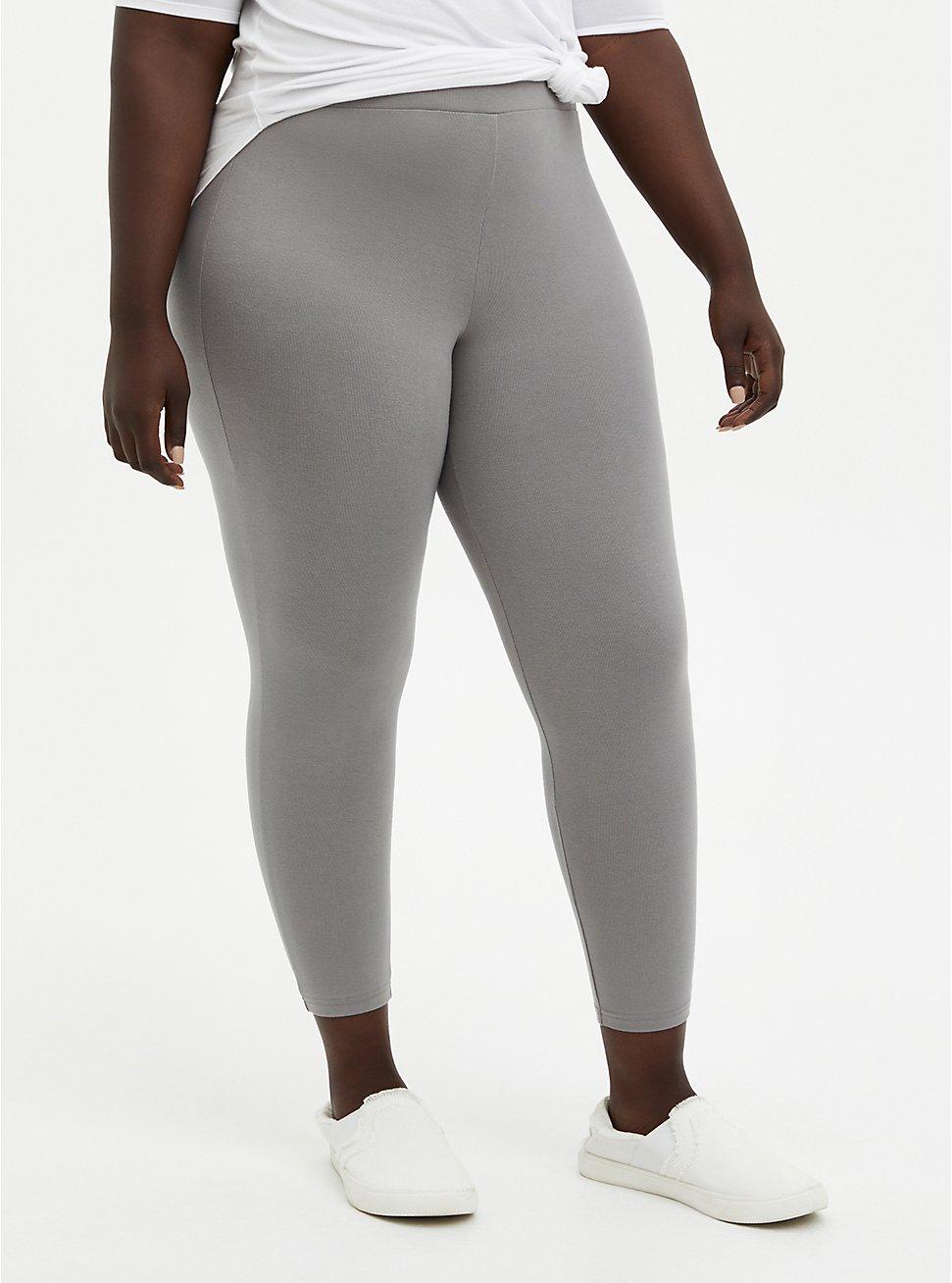 Crop Premium Legging - Grey, GREY, hi-res