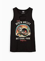 Classic Fit Crew Tank - Death Valley Black Slash Front, DEEP BLACK, hi-res