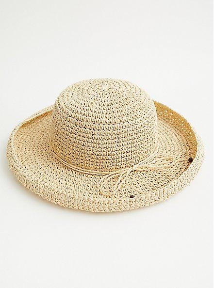 Natural Straw Cruiser Hat, BEIGE, alternate