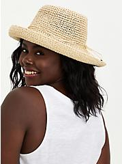 Natural Straw Cruiser Hat, BEIGE, hi-res