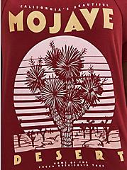 Cold Shoulder Tee -Mojave Desert Red, RED, alternate