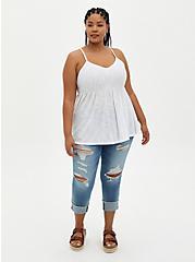 White Lace Cami, BRIGHT WHITE, alternate