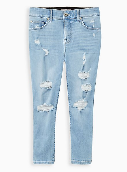 Crop Bombshell Skinny Jean - Premium Stretch Eco Medium Wash , CALABASAS, hi-res
