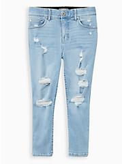 Crop Bombshell Skinny Jean - Premium Stretch Eco Medium Wash , CALABASAS, hi-res
