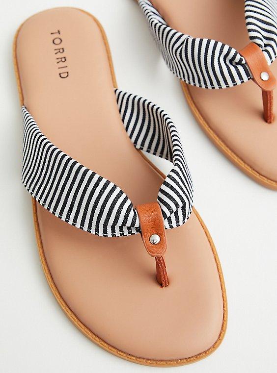 Stripe Canvas Flip Flop , STRIPE - MULTI, hi-res