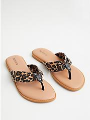 Leopard Canvas Flip Flop, NAVY, alternate