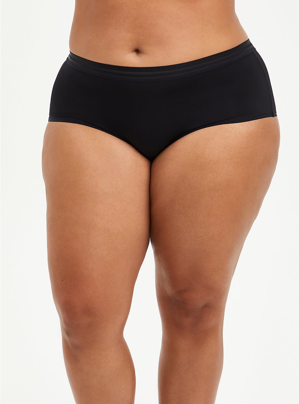 Plus Size Cheeky Panty - Second Skin Black, RICH BLACK, hi-res