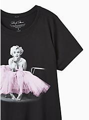 Slim Fit Crew Tee - Marilyn Monroe Black , DEEP BLACK, alternate