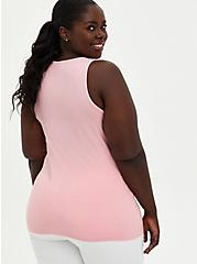Pink Mineral Wash Lace Up Rib Tank , ALMOND BLOSSOM, alternate