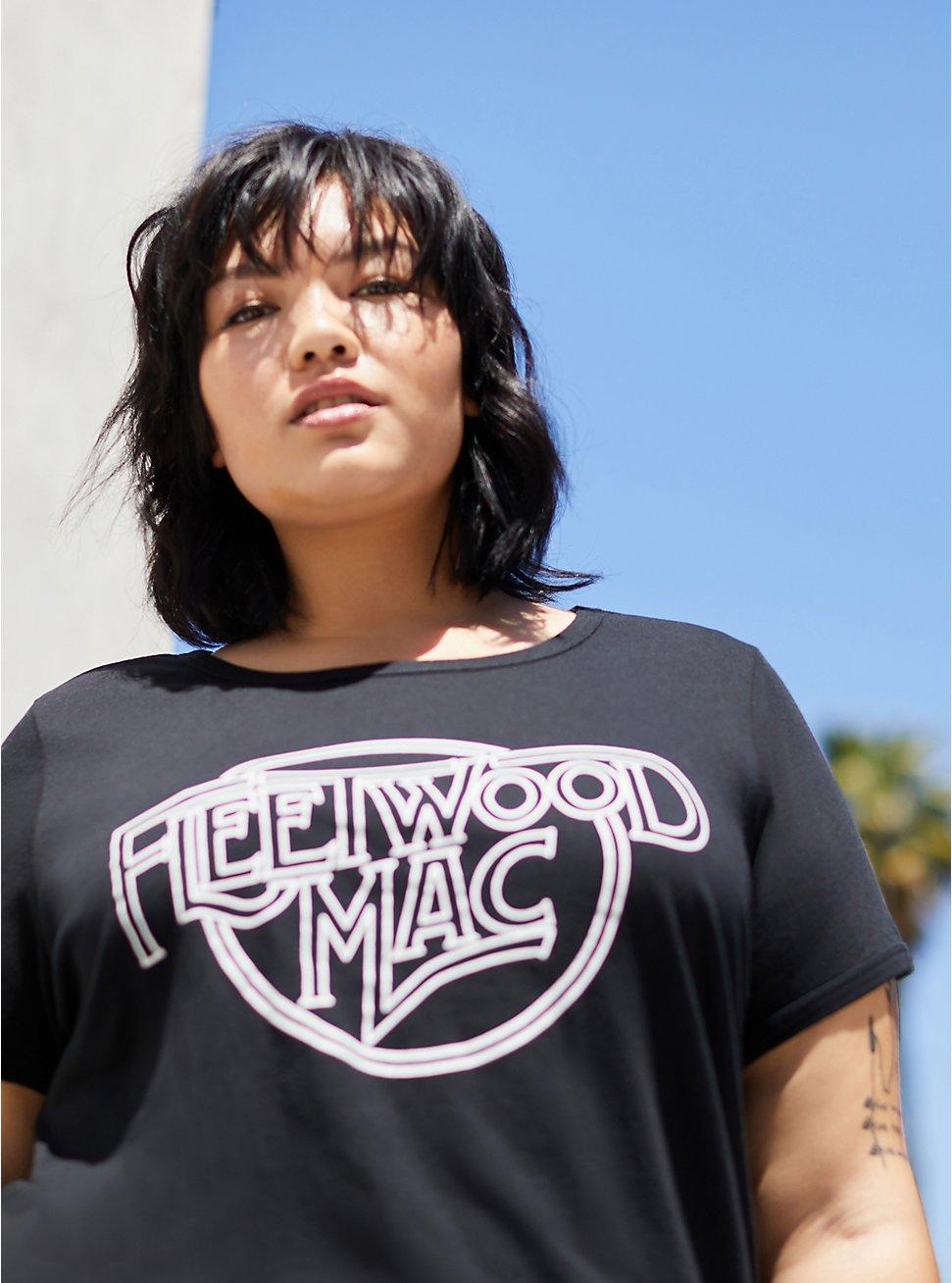 Classic Fit Ringer Tee – Fleetwood Mac Black, DEEP BLACK, hi-res