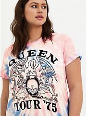 Classic Fit Crew Tee – Queen Pink Tie-Dye, TIE DYE-PINK, alternate