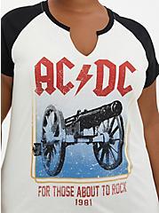 Classic Fit Raglan Tee - AC/DC White, BRIGHT WHITE, alternate