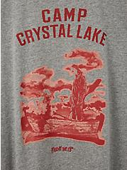 Classic Fit Ringer Tee – Friday The 13th Camp Crystal Lake Heather Grey, MEDIUM HEATHER GREY, alternate