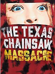 Plus Size Classic Fit Crew Tee - Texas Chainsaw Red Tie-Dye, RED, alternate