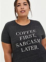 Vintage Tee - Triblend Jersey Coffee Sarcasm Grey , CHARCOAL, hi-res