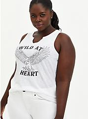 Wild Heart White Split Neck Tank, BRIGHT WHITE, hi-res
