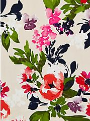 Ava Cami - Stretch Challis Floral Beige, FLORAL - TAN, alternate
