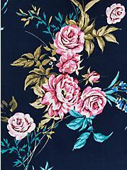 V-Neck Tank - Soft-Stretch Challis Woven Navy Floral , FLORAL - BLUE, alternate