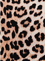 Leopard Crepe Tie Front Button Front Top, LEOPARD - TAN, alternate