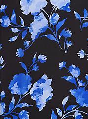 Black Floral Lace Georgette Tank, FLORAL - BLACK, alternate