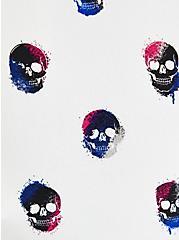 Harper - White Skull Georgette Pullover Tank , SKULLS - WHITE, alternate