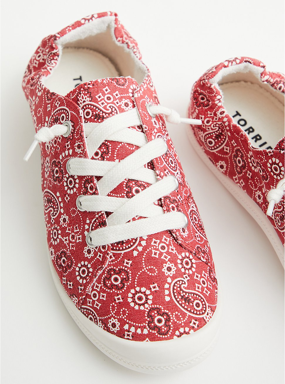 Riley - Red Bandana Canvas Sneaker (WW), RED, hi-res