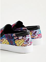 Plus Size Beauty & The Beast Canvas Slip-on Sneaker , MULTI, alternate