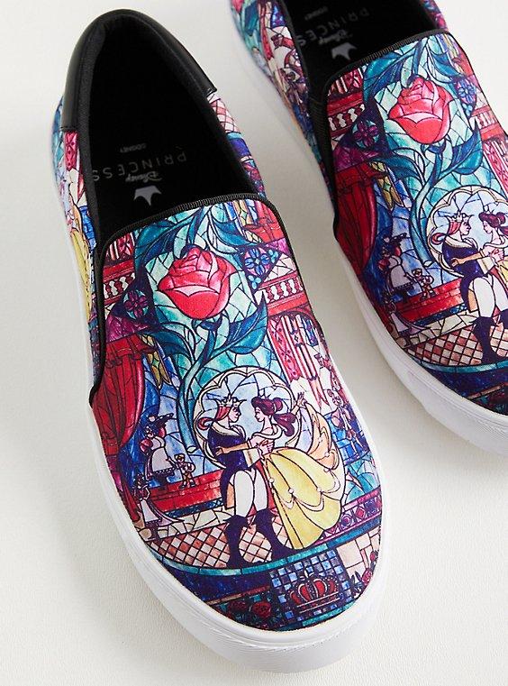 Beauty & The Beast Canvas Slip-on Sneaker , MULTI, hi-res