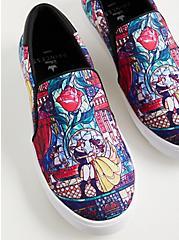 Plus Size Beauty & The Beast Canvas Slip-on Sneaker , MULTI, hi-res