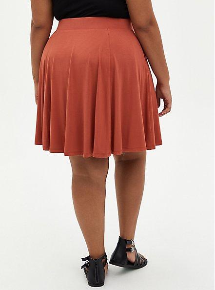 Auburn Super Soft Button Front Mini Skirt, , alternate