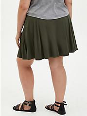 Olive Super Soft Button Front Mini Skirt, DEEP DEPTHS, alternate