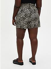 Leopard Challis Paperbag Tie Front Short, OTHER PRINTS, alternate