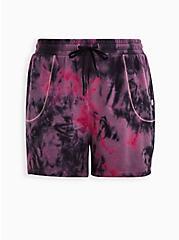 Pink Tie Dye Wicking Active Terry Short, TIE DYE, hi-res