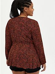 Cheetah Crepe Tie Front Kimono, ANIMAL, alternate