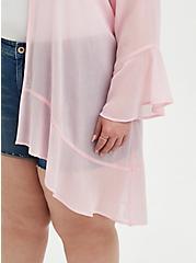 Pink Crinkle Chiffon Wrap , ALMOND BLOSSOM, alternate