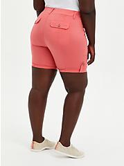 Pink Poplin Bermuda Short, CORAL, alternate