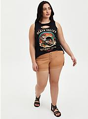 Brown Buttonfly Twill Military Short, BROWN  LIGHT BROWN, alternate
