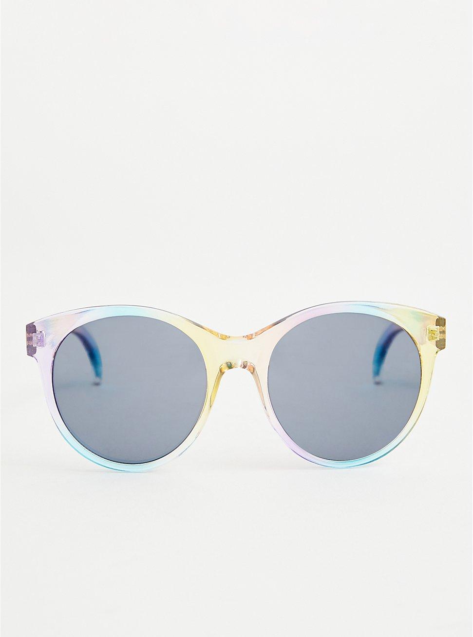 Multi Color Round Cat Eye Sunglasses, , hi-res
