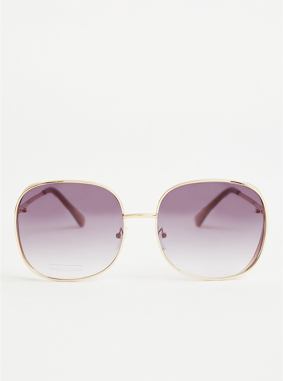 Gold Tone Square Aviator Sunglasses, , hi-res