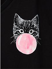 Girlfriend Tee - Signature Jersey Black Cat Bubble, DEEP BLACK, alternate