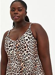 Leopard Super Soft Handkerchief Midi Dress , LEOPARD, alternate