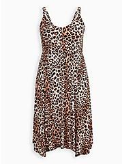 Leopard Super Soft Handkerchief Midi Dress , LEOPARD, hi-res