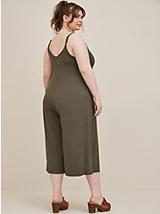 Olive Super Soft Culotte Jumpsuit , DEEP DEPTHS TIE DYE, alternate