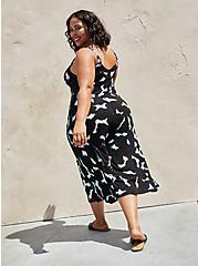 Black Tie-Dye Super Soft Culotte Jumpsuit , TIE DYE-BLACK, alternate